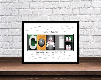 Bowling Coach Gift - Bowling Coach Gift - Bowling Team Gifts - Bowling Print - Personalized Bowling Gift - Team Mom Gift - Bowling Gift