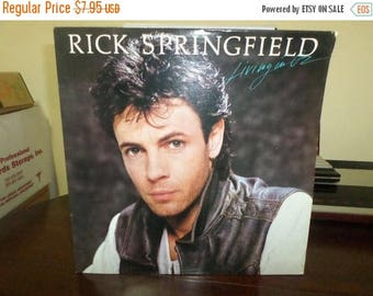 Save 30% Today Vintage 1983 Vinyl LP Record Rick Springfield Living in Oz Near Mint Condition 7566