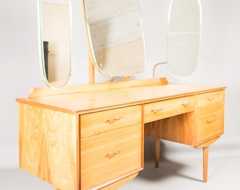 1950s Alfred Cox Dressing Table Desk Walnut Retro Mid Century