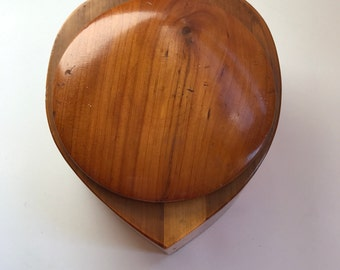 Beautiful Vintage Heart-shaped Cedar Box