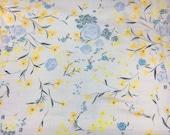 "3 Yards Nani Iro Fuccra Textured Cotton Dobby Cream Floral Fabric 42"" Wide"