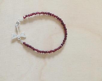 Dragonfly and Garnet bracelet