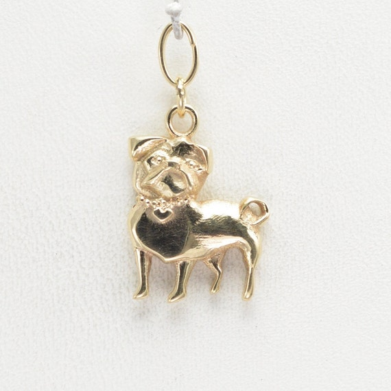 14kt gold pug charm by donna pizarro from animal whimsey