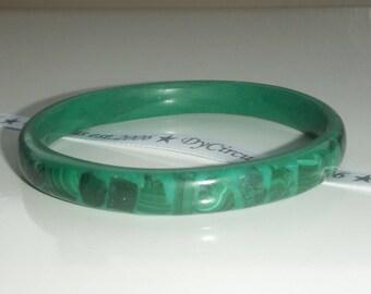Green Malachite Large Bangle