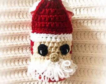 Santa Coffee Cozy - Christmas Santa Claus Coffee Cup Warmer - Elf Coffee Cozy