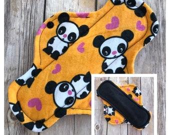 "9"" Flannel Panda Cloth Menstrual Pad - Mama Cloth"