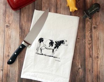 Dairy Cow Flour Sack Tea Towel