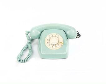 Telephone Heraldo, Citesa. Color blue.