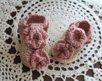 Made to Order: Crochet Baby Sandals, Flower Flip Flops, Crochet Flip Flops, Infant Flip Flops, Baby Shower Gift, Baby Apparel, 0-12 Months,
