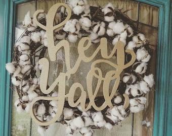 hey y'all wreath