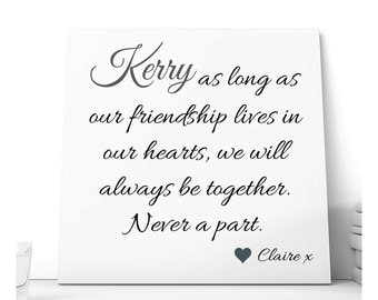 Personalised Friendship Ceramic Plaque.