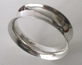 Sterling Silver Hand-Made  Bangle Bracelet from Mexico