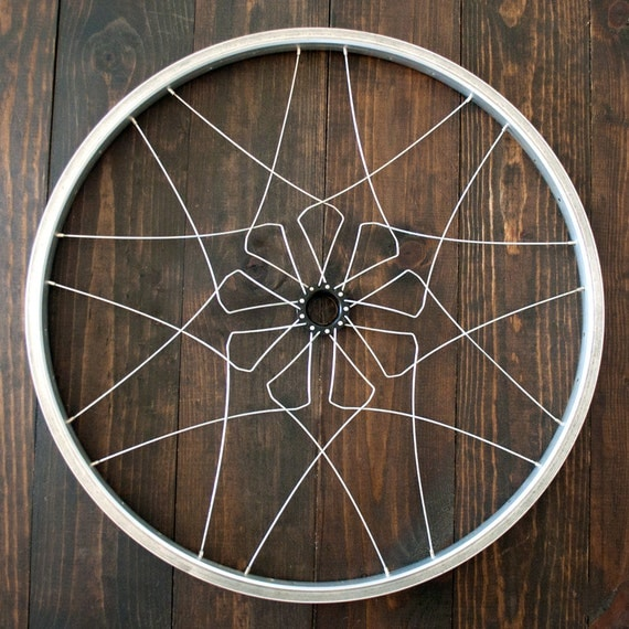 Bicycle wall art neva mandala recycled bike wheel parts for Bicycle wheel wall art