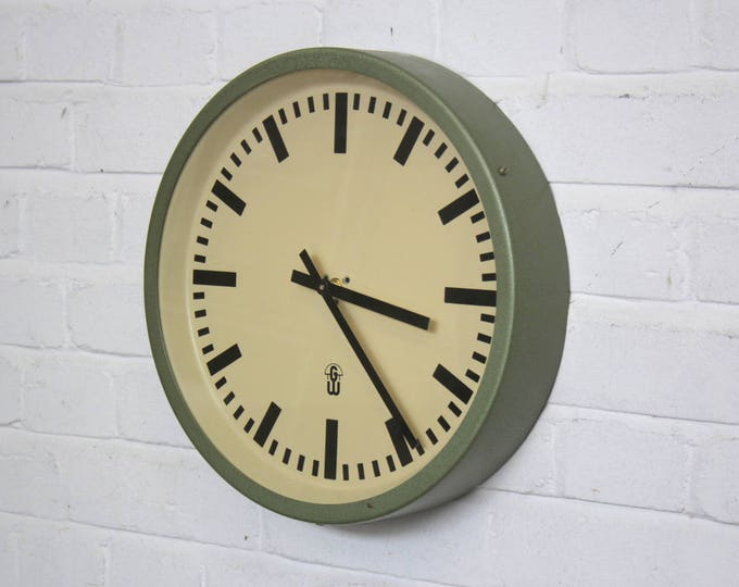 East German Mid Century Industrial Clock Circa 1960's
