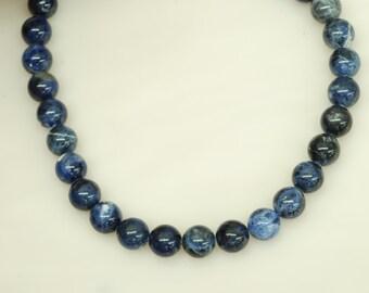 "10mm Round Sodalite Beads, 15.5"" long"