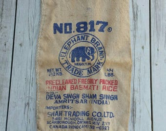 Elephant Brand Basmati Burlap Rice Bag 44 Lbs