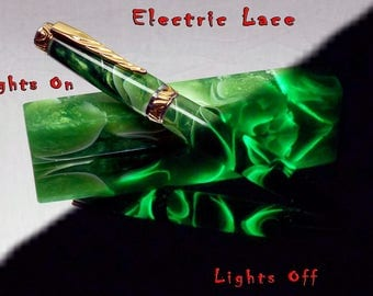 Electric Lace Pen Turning Blanks that Glow In The Dark