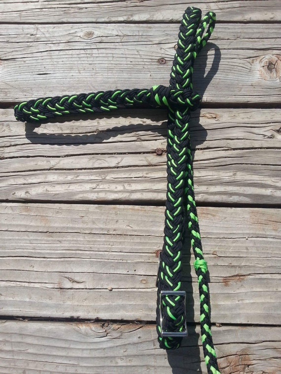 Thick paracord headstall for Paracord horse bridle