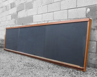Vintage School Blackboard Long Wall Kitchen Menu Board Food Bar Restaurant