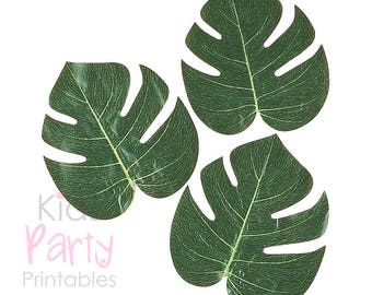 Moana Party Supplies, 12 Palm Leaves, Moana Decorations, Moana Party Theme, Birthday Luau Decorations, Hawaiian Party Decorations Supplies