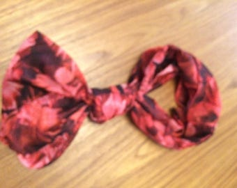 Metallic Red Infinity Scarf