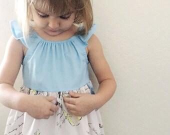 Disney Princess dress - light blue Cinderella disney dress, disney dress, 2t, 3t, 4t, 5, 6, 7, 8, princess dress, Snow White, belle
