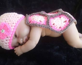 Crochet Baby Turtle Outfit/ Photo Prop- (INTRODUCTORY SALE)