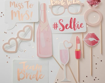Hen Party Photo Booth Props, Photo Booth Bridal Shower, Wedding Photo Booth, Bride to Be Party, Hen Party Photo Props