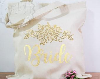 Bride Tote Bag, Bachelorette Party, Bride Tribe, Bridal Party Tote Bag, Bridesmaid Gifts Tote Bag Personalized Wedding Bag Bridal Party Gift