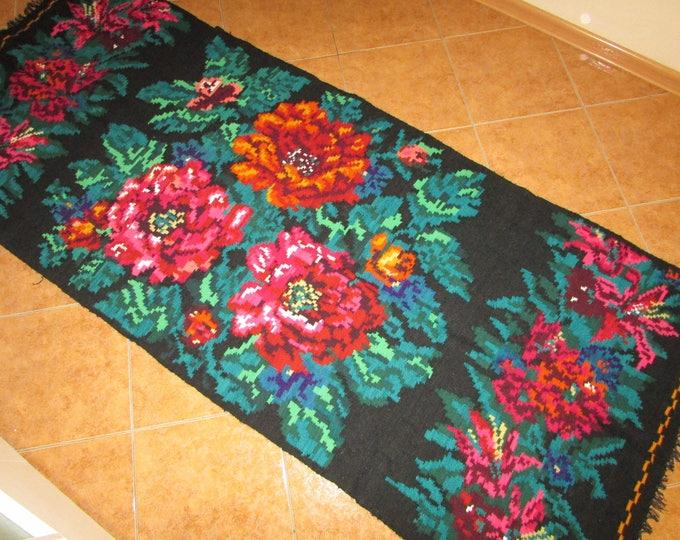 FREE SHIPPING. Bessarabian Kilim & area rugs. Tapis vintage moldave,Large rug,oushak rug,persian rug,morrocan rug,tapis boheme,overdyed rug