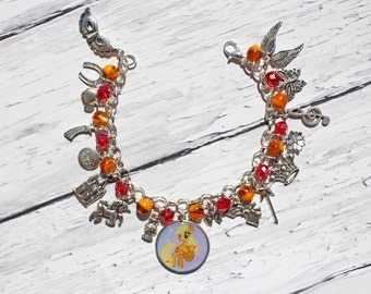 My Little Pony Applejack Inspired Ultimate Fan Charm Bracelet