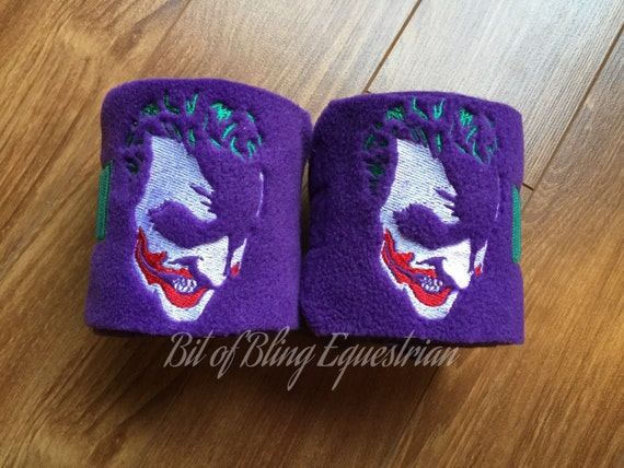 4 Superhero/Villain Embroidered Polo Wraps - custom