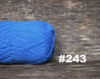 WOOL YARN, Wool Sky Blue color for knitting, crochet, Lithuanian Wool Yarn, #243