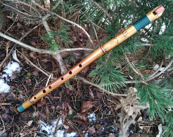 Bamboo Low Whistle Flute in D  (or C or E)