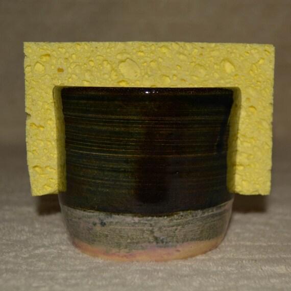 Sponge Holder, Kitchen Storage, Sponge, Stoneware, Ceramic, Dark Green, Mint Green, Lavender,