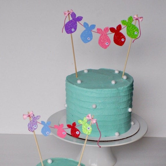 Fish Gone Fishing Cake Topper By Smashcaked Catch My Party