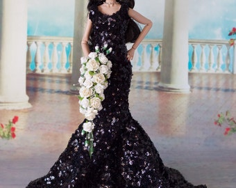 Barbie,Tonner,Revlon Tyler Sydney Ellowyne wedding White Cascading  Bouquet, Flowers, NEW!!