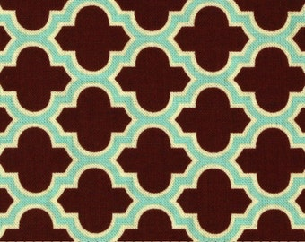 AVIARY 2 by Joel Dewberry - Fabric - Lodge Lattice in Caramel - Westminster ~ Quilting ~ Sewing ~ Free Spirit ~ Geometric ~ Tile Mosaic