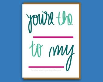 Boyfriend Card. Love Card. Husband Valentine. Valentine Card for Wife. Funny Valentine. Card for Girlfriend. Best Friend Card. Card for Him.