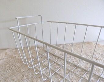 Vintage White Wire Basket