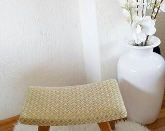 Vintage ottoman footstool sixties