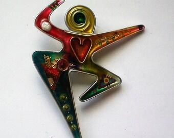 Modernist Dancing Mother Love Pin - 5224