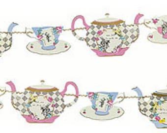 Alice in Wonderland  Tea party Garland