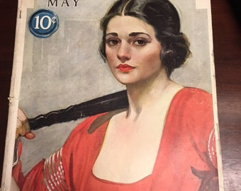 """Antique, Magazine, from May 1923, McCall's, Approx 16"""" x 11"""""""