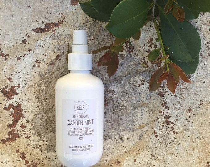 Featured listing image: Garden Mist Organic Room & Linen Spray 200ml - bergamot, geranium, grapefruit, peppermint