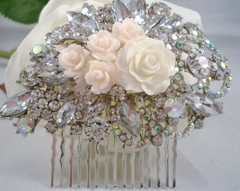 Rhinestone Hair Comb Wedding Hair Comb Bridal Hair Decorations Gatsby Hair Comb 1920's Inspired Jeweled Hair Piece
