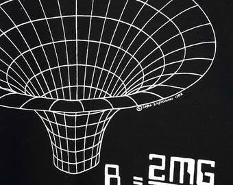 Best Physics T Shirt- Black Hole Equation and Maxwell's Equations  Science T Shirt BlackT Shirt