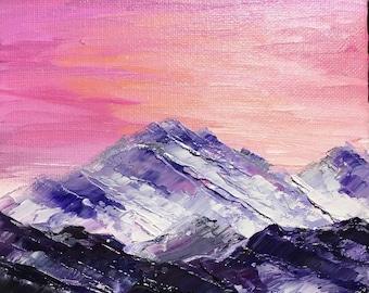 On Hold - ***Do not purchase*** Impasto Landscape - Twilight