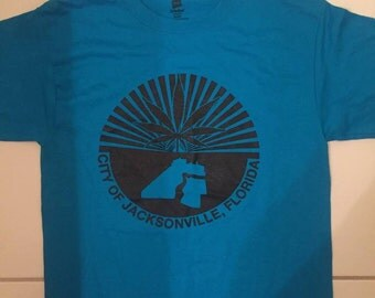 JACKSONVILLE limited edition black on blue tee (SMALLS ONLY!)