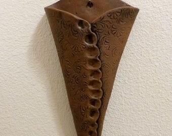 Metal Wall Vase ceramic wall vase | etsy